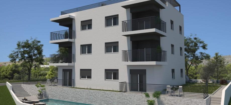 Appartements avec deux chambres, vue mer!
