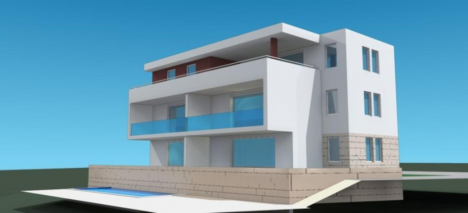 Okrug Gornji, appartement toit terrasse 3 chambres